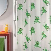 Douchegordijn Allibert Frogtime groen 180x200cm