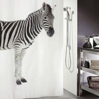 allibert Douchegordijn  Spirella Zebra zwart 180x200cm