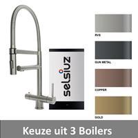 Selsiuz Kokendwaterkraan  XL Inclusief Boiler (Keuze uit 3 boilers en 4 kleuren)