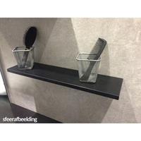 Saniclass Planchet 60 cm Hoogglans Zwart