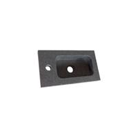 Saniclass Fonteinbakje Grey Stone Exclusive Line 40cm Natuursteen 1 Kraangat