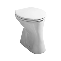 Jika Euroline staand toilet AO vlakspoel, wit