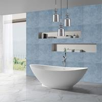 Douche Concurrent Vrijstaand bad Solid Surface - Florin Mat Wit Ovaal