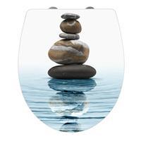 Toiletbril Wenko Meditation Softclose 45x38.8cm Acryl Wit Multi