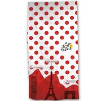 Tour de France Bolletjestrui Strandlaken 70 x 140 cm Rood, wit