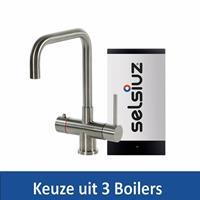 Selsiuz Kokendwaterkraan Steel Haaks RVS Inclusief Boiler - Kokendwaterkraan Steel Haaks RVS Inclusief Single Boiler