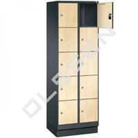 EVO Volkern / HPL locker met 10 smalle vakken