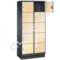 EVO Volkern / HPL locker met 10 brede vakken