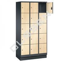 EVO Volkern / HPL locker met 15 smalle vakken