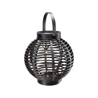 Solar tuinlamp LED Warm-wit Polarlite Rattan 250 PL-8220875 Zwart
