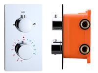 Best Design Verona Inbouwthermostaat & Inbouwbox 2-weg 1/2inch