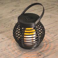 Solar Lantaarn Basket Small Rotanlook lamp op zonne energie
