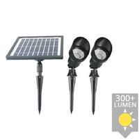 Slk Solar spot Heads complete set met twee spots en los solarpaneel