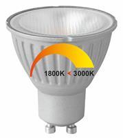 GU10 6Watt LED-lamp Dim to Warm
