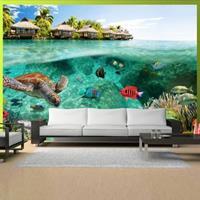 Fotobehang - onder de oppervlakte van het water , multi kleur ,