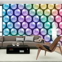 Fotobehang - Kleurige pastel bollen