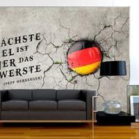 Fotobehang - Das nächste Spiel ist immer das schwerste (Sepp Herberger) Duitsland
