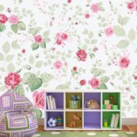 Fotobehang - Muur vol rozen