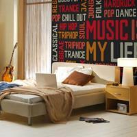 Fotobehang - Music is my life