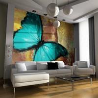 Fotobehang - Geverfde Vlinder , multi kleur