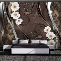 Fotobehang - Sneeuwwitte bloemen