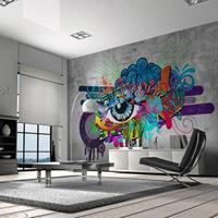 Fotobehang - Graffiti oog