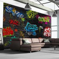 Fotobehang - Graffiti muur