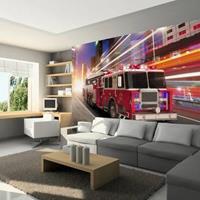 Fotobehang - Brandweer wagen