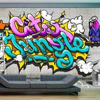 Fotobehang - City jungle - Graffiti