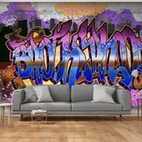 Fotobehang - Kleurrijke muur, graffiti