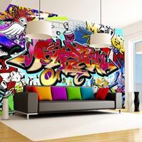 Fotobehang - Street art - Rood