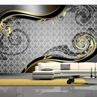 Fotobehang - Gouden krullen