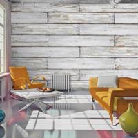 Fotobehang - Witte planken