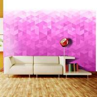 Fotobehang - Roze pixel