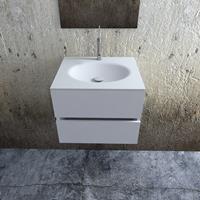 Zaro Sevilla Solid Surface badkamermeubel 60cm mat wit 1 kraangat