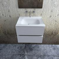 Zaro Valencia Solid Surface badkamermeubel 60cm mat wit zonder kraangat