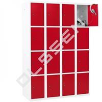 Metalen Locker met 16 vakken - smal model (Capsa)