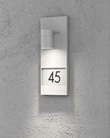 konstsmide Modena wandlamp huisnummer met verlichting grijs 7655-300