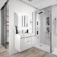 Muebles Fusion badmeubel hoogglans wit 60cm