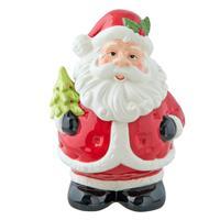 Clayre & Eef Voorraadpot kerstman 15x14x22 cm / 1L