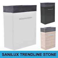 Sanilux Fonteinkast  Trendline Stone links/rechts draaiend (3 kleuren)
