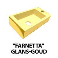 Best Design Fontein Farnetta Kraangat Rechts 37x18x9cm Glans-Goud