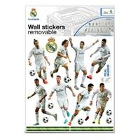 Real Madrid muursticker 16 spelers 2 stickervellen