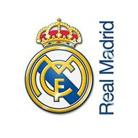 Real Madrid muursticker logo 2 stuks