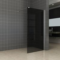 Wiesbaden Slim inloopdouche zonder profiel 110x200 cm, zwart