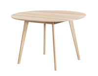 Nordiq Yumi dining table - Ronde eettafel - Hout - Whitewash - Ø115 x H74 cm