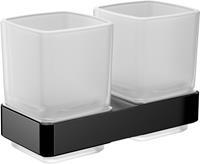Emco Loft glashouder dubbel zwart