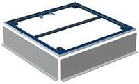 Geberit Setaplano frame voor 4 poten 80x80 cm. blauw