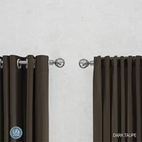 Lifa Living gordijnen Ringen - Donker taupe
