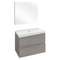 Thecollection The Collection Concept Badmeubelset met spiegel 60cm - Grijs/Wit